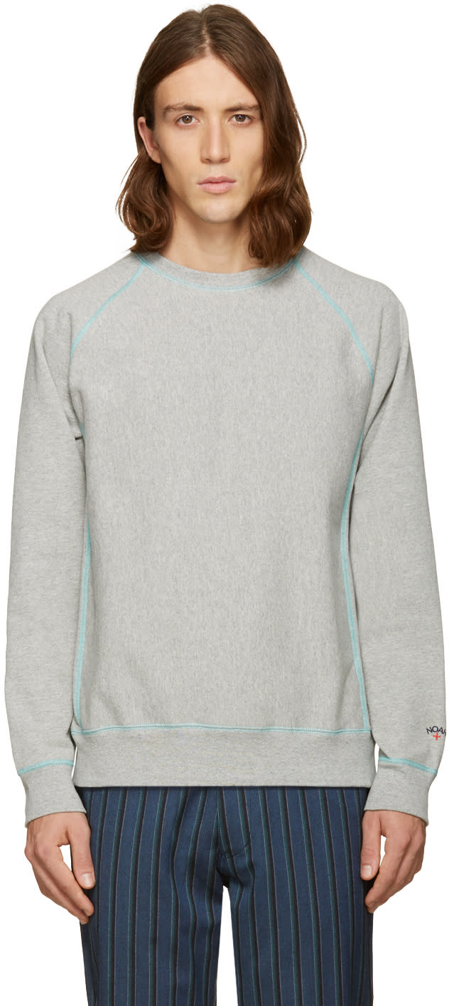 Noah Grey Solid Sweatshirt