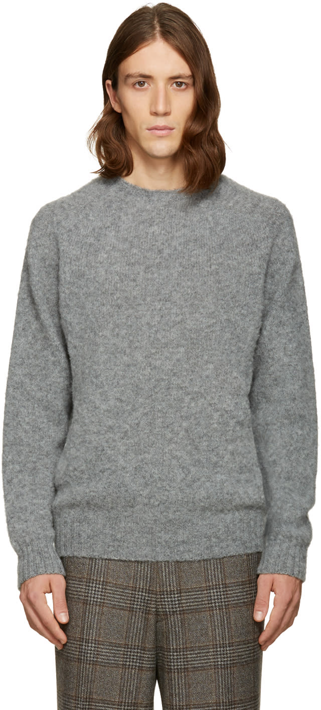 Noah Nyc Grey cross Country Sweater