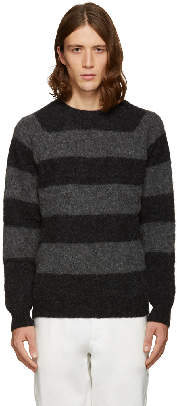 Noah Black Striped Sweater