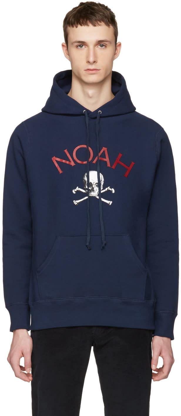 Noah Nyc Navy Jolly Roger Hoodie