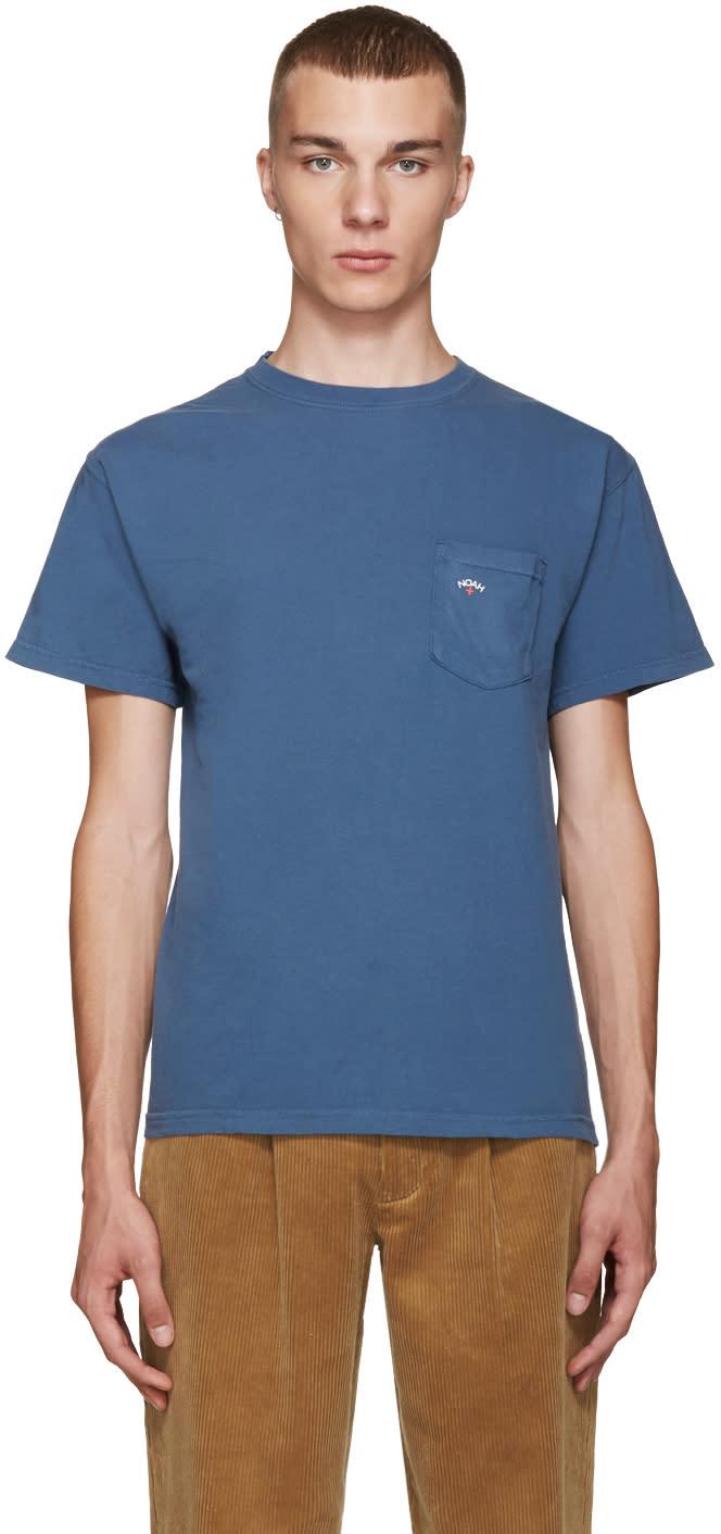Noah Nyc Blue Pocket T-shirt