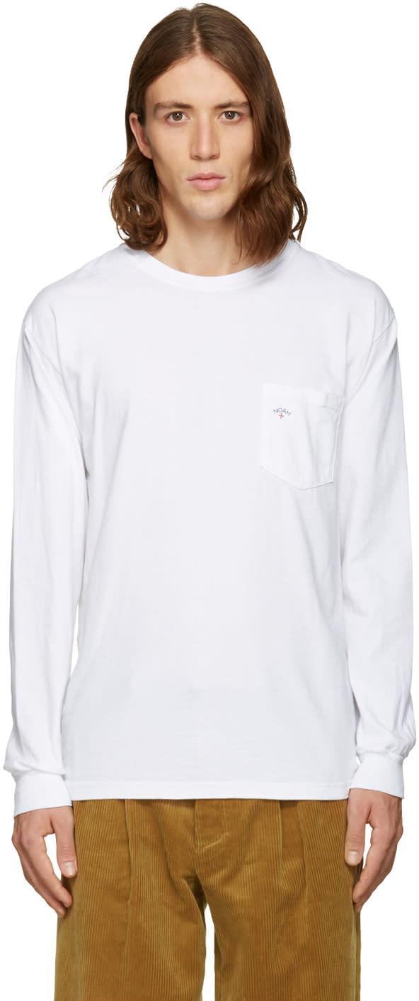 Noah White Pocket Logo T-shirt
