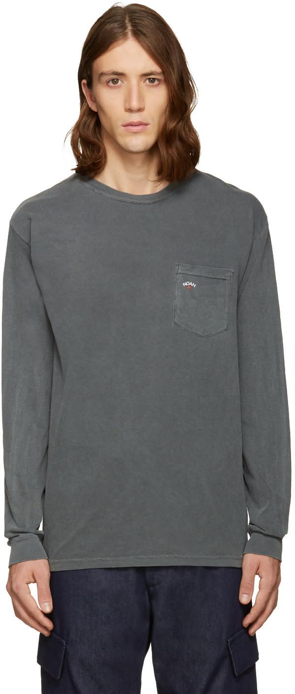 Noah Black Pocket Logo T-shirt
