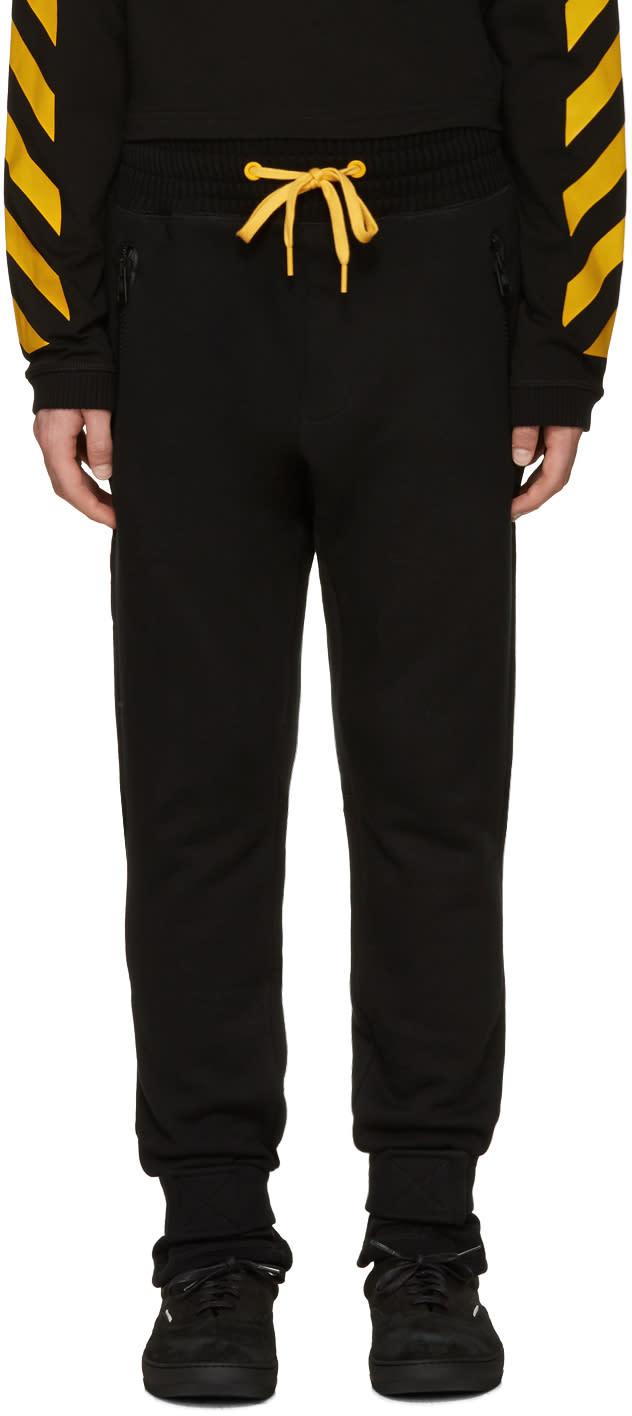 Moncler O Black Drawstring Lounge Pants