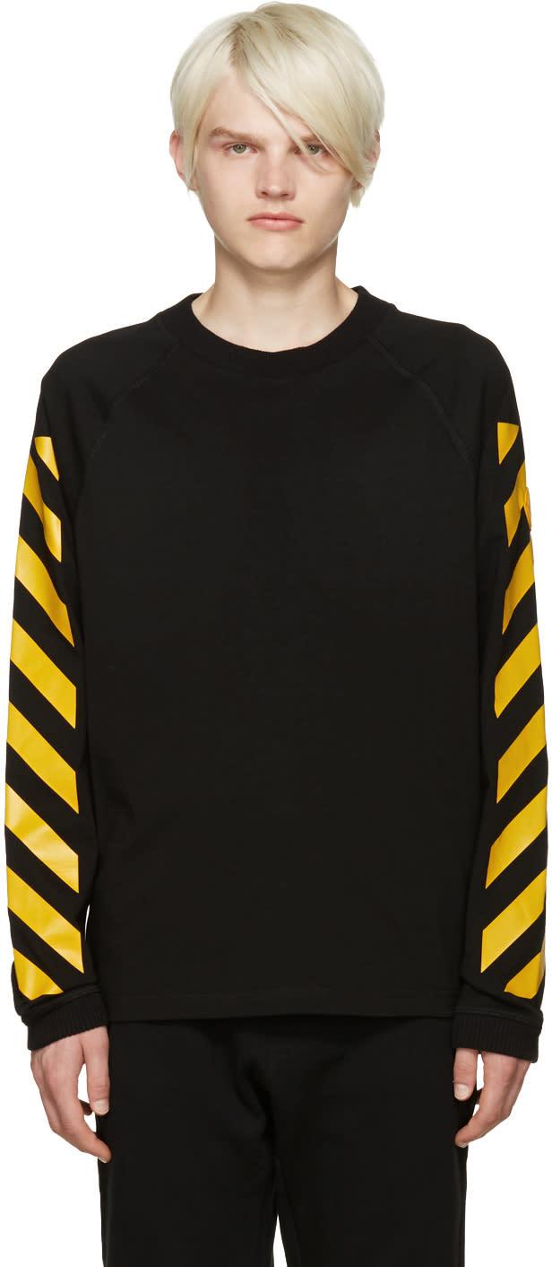 Moncler O Black Striped Sleeves T-shirt