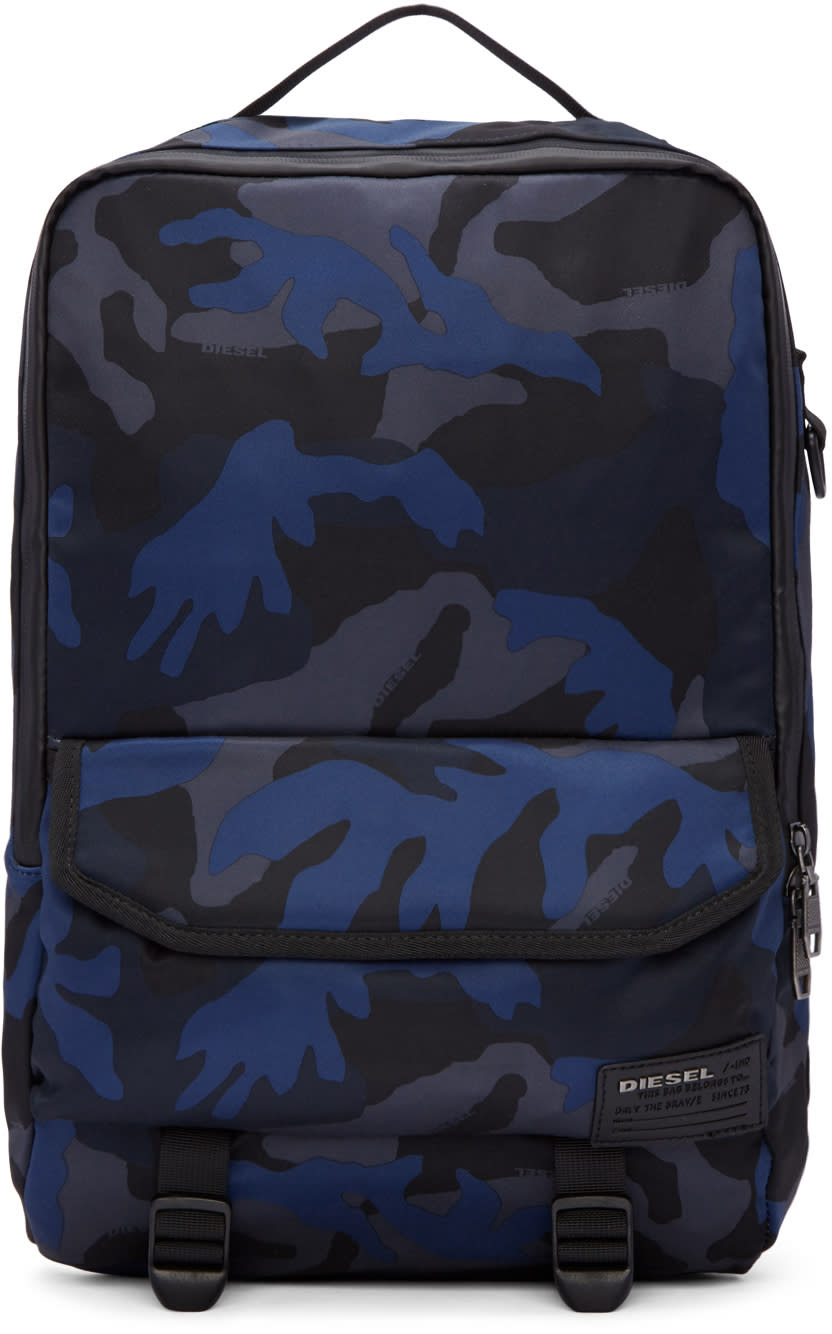 Diesel Blue Camo F-close Backpack