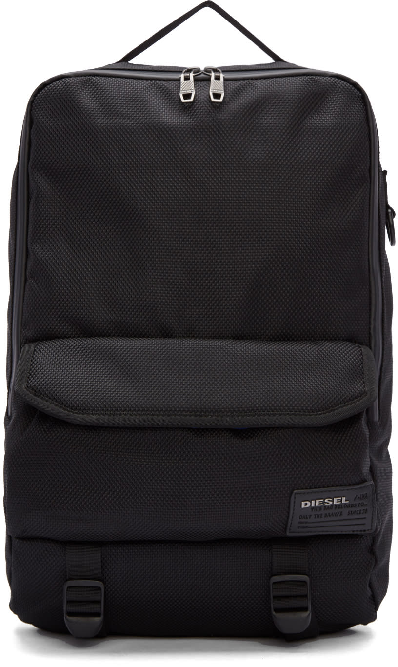 Diesel Black F-close Backpack