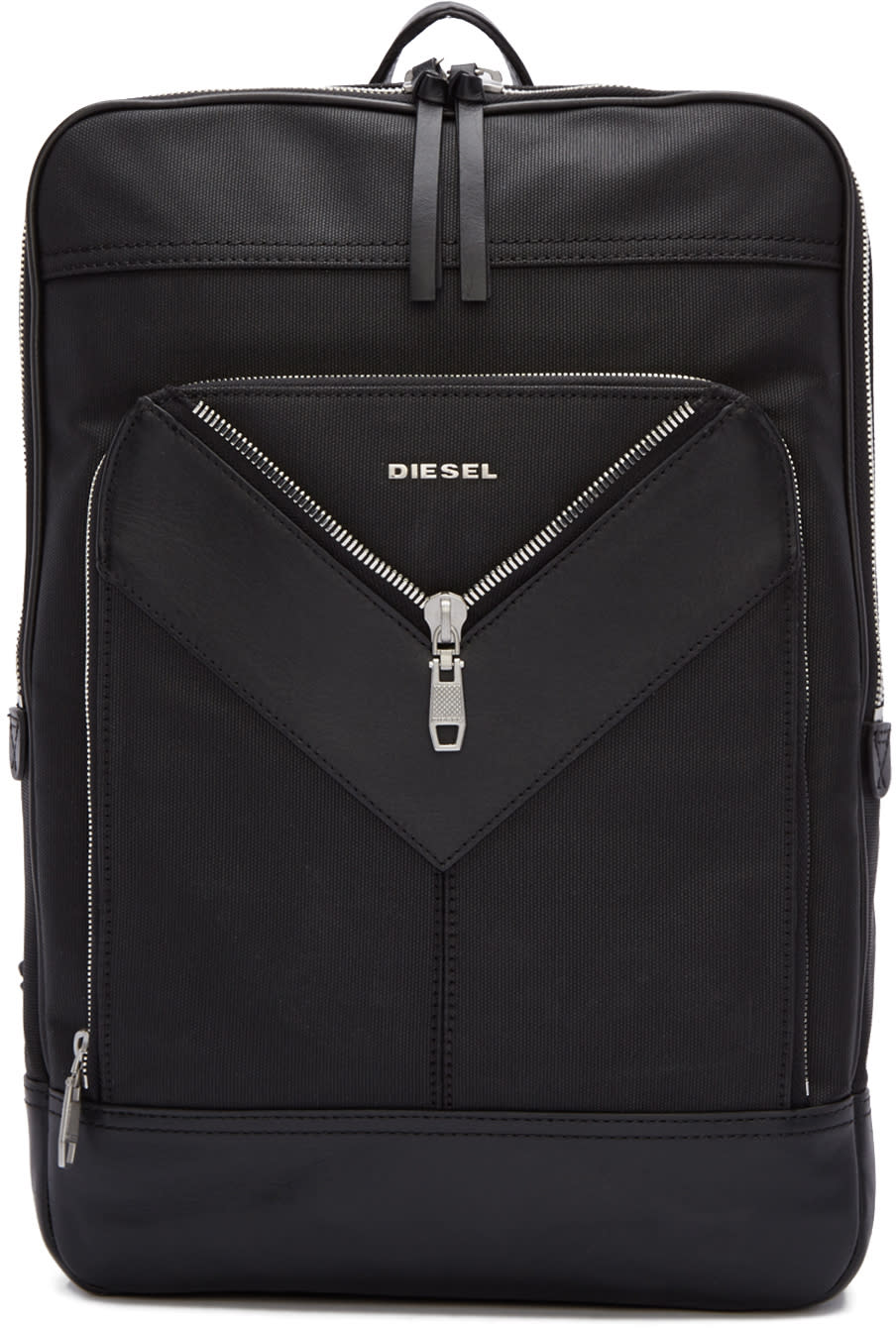 Diesel Black Mr. V Backpack