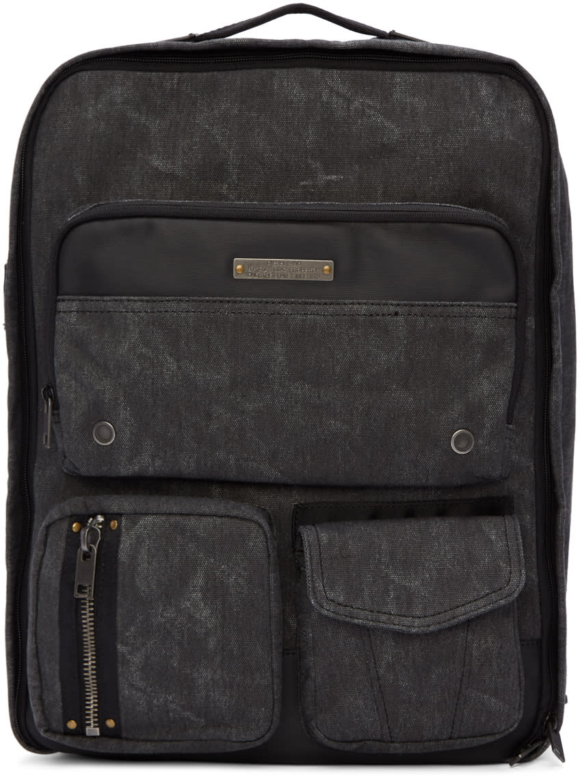 Diesel Black Gear Backpack