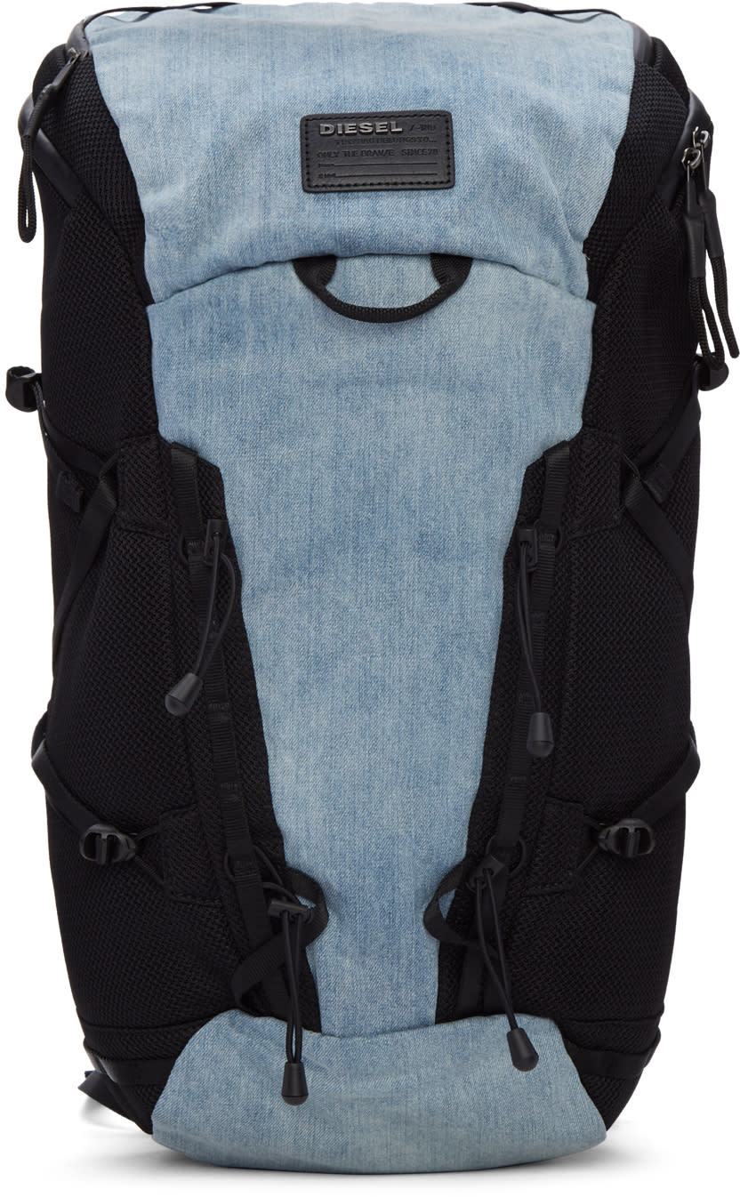 Diesel Blue Denim D-running Backpack
