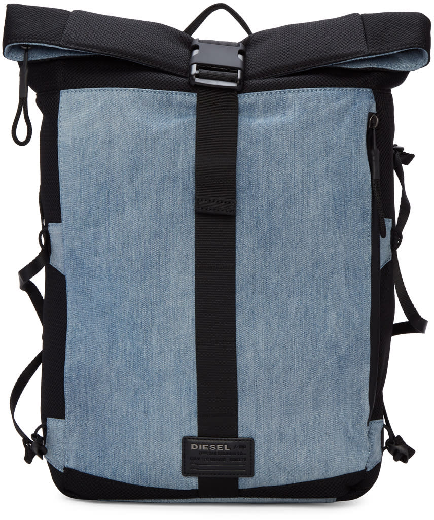 Diesel Blue D-running Roll Backpack