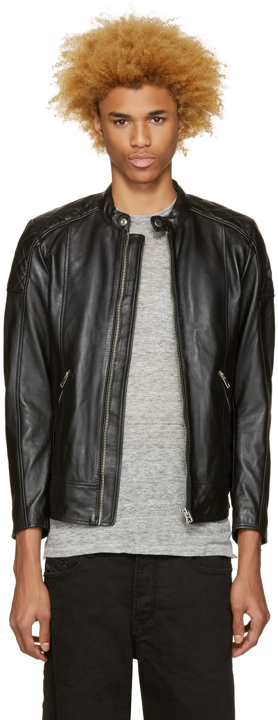 Diesel Black Leather L-marton Jacket