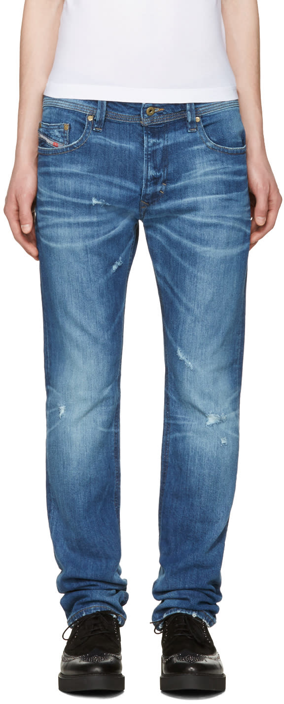 Diesel Blue Distressed Thavar Jeans
