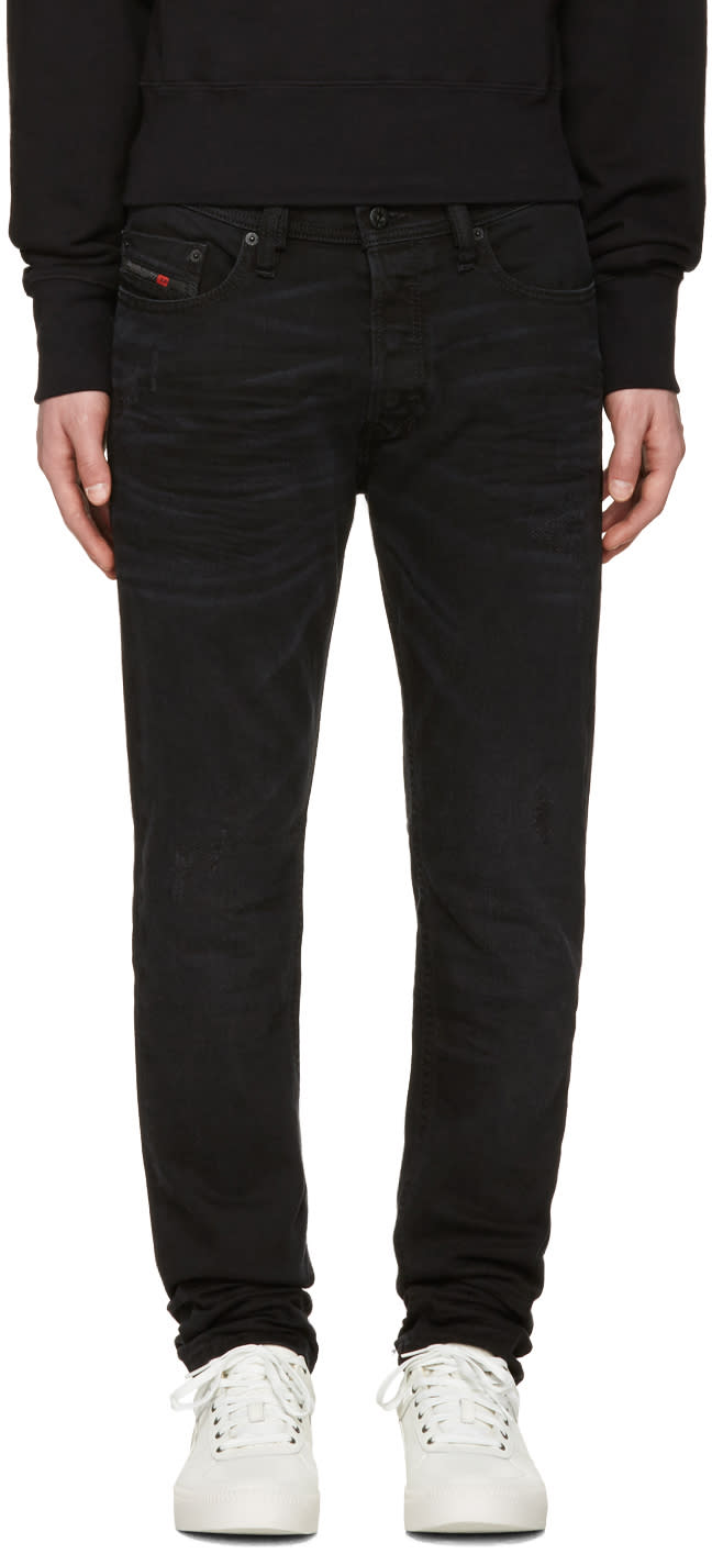 Diesel Black Distressed Tepphar Jeans