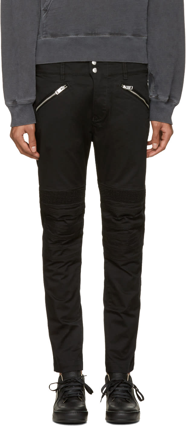 Diesel Black P-ray Zip Trousers