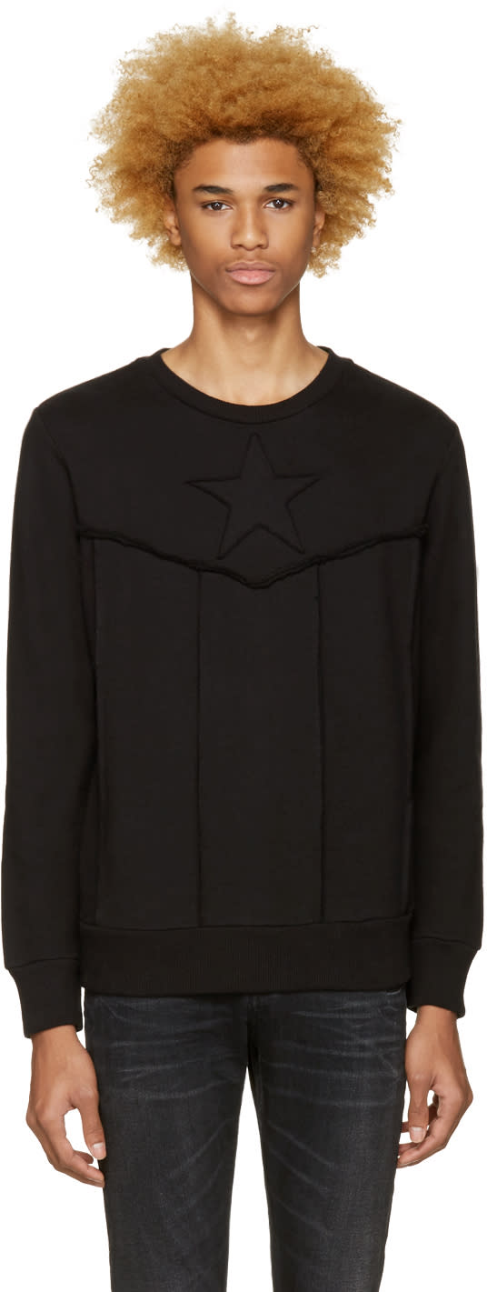 Diesel Black S-capitan Sweatshirt