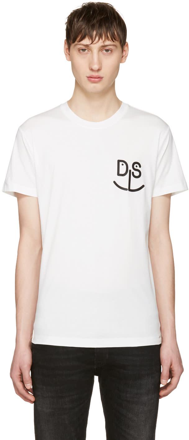 Diesel White T-deigo-pkt-mo T-shirt