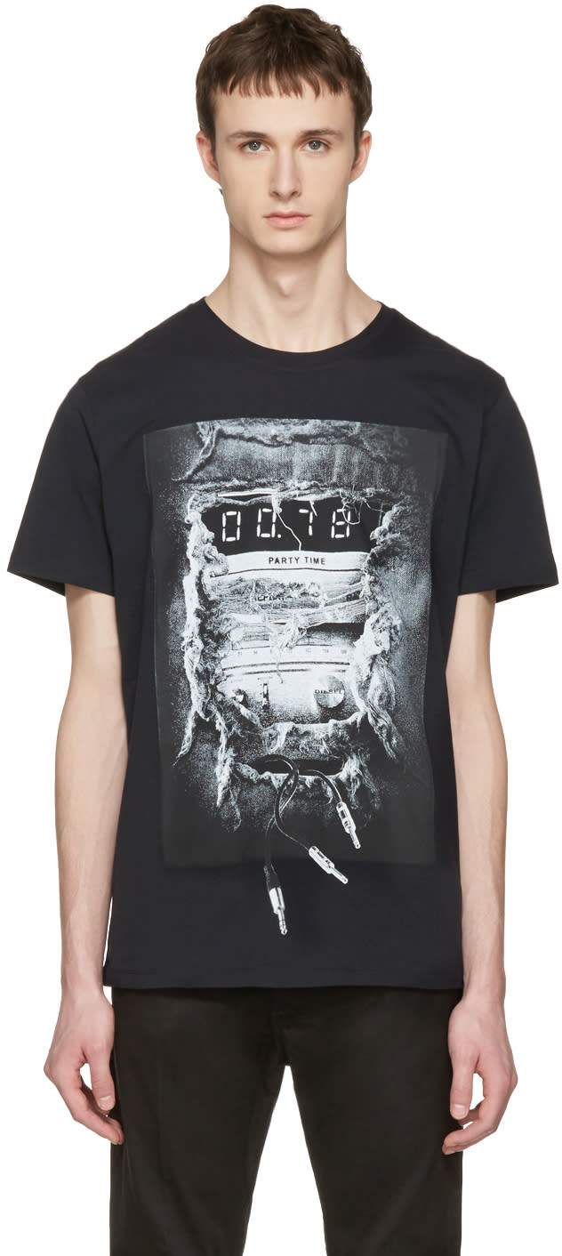 Diesel Black T-joe-oa party Time T-shirt