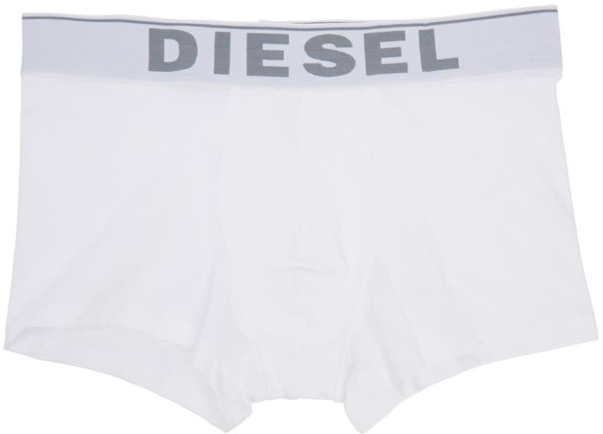 Diesel White Umbx-kory Boxer Briefs