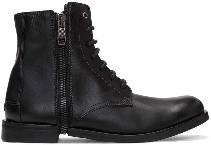 Diesel Black D-zipphim Boots
