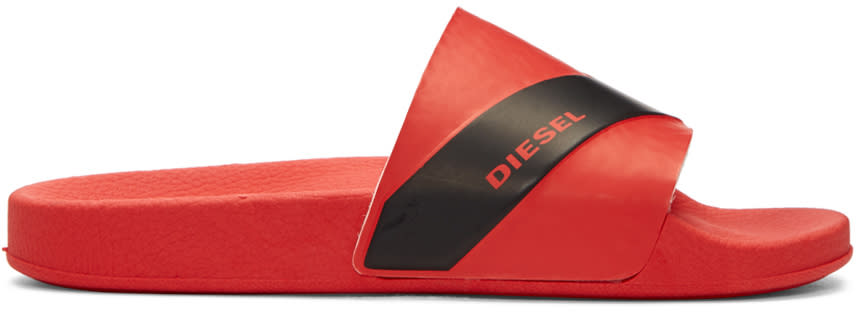 Diesel Red Sa-maral Sandals