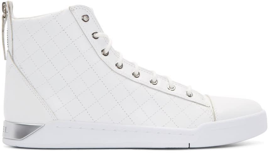 Diesel White Diamond High-top Sneakers
