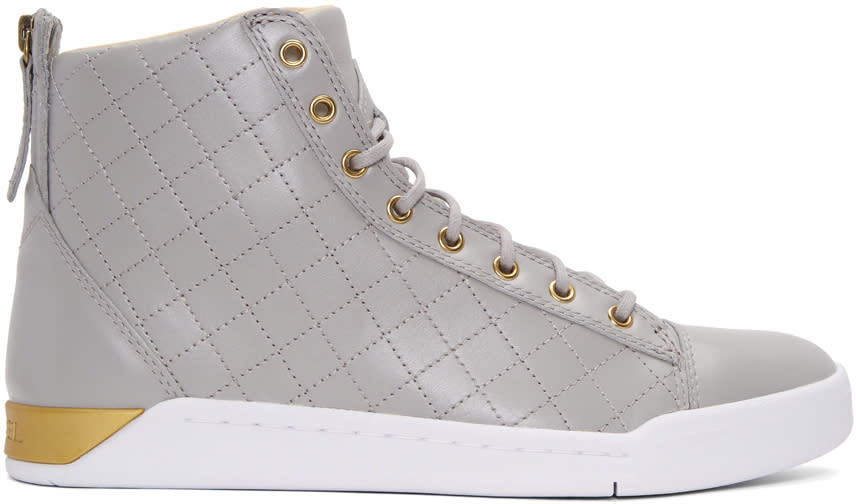 Diesel Grey Diamond High-top Sneakers