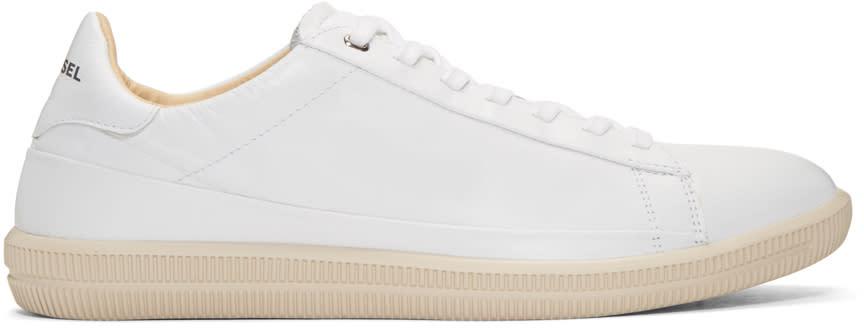 Diesel White S-napik Sneakers