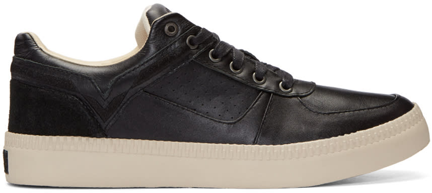 Diesel Black Leather S-spaark Sneakers
