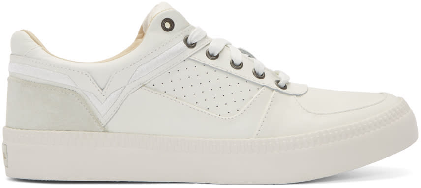 Diesel White Leather S-spaark Sneakers
