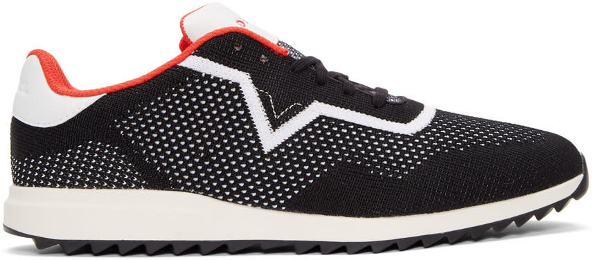 Diesel Black and White S-swift Knit Sneakers