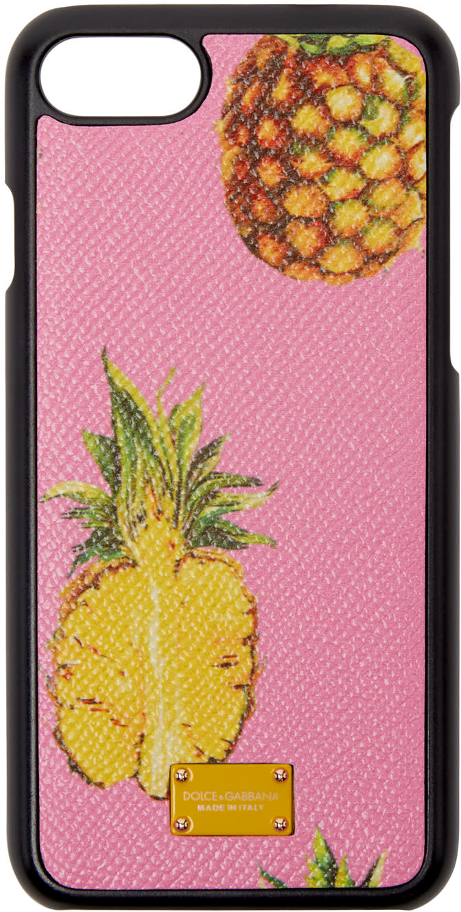 Dolce and Gabbana Pink Pineapple Iphone 7 Case
