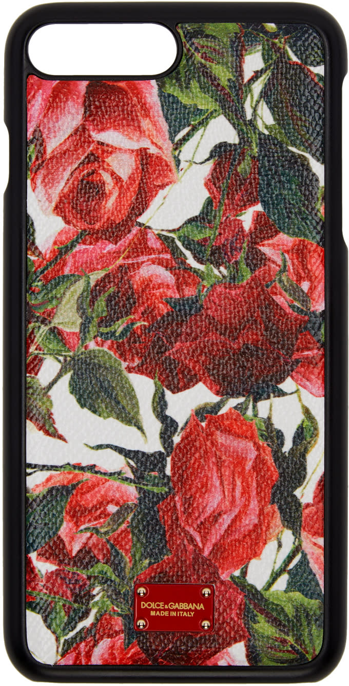 Dolce and Gabbana White Rose Iphone 7 Plus Case