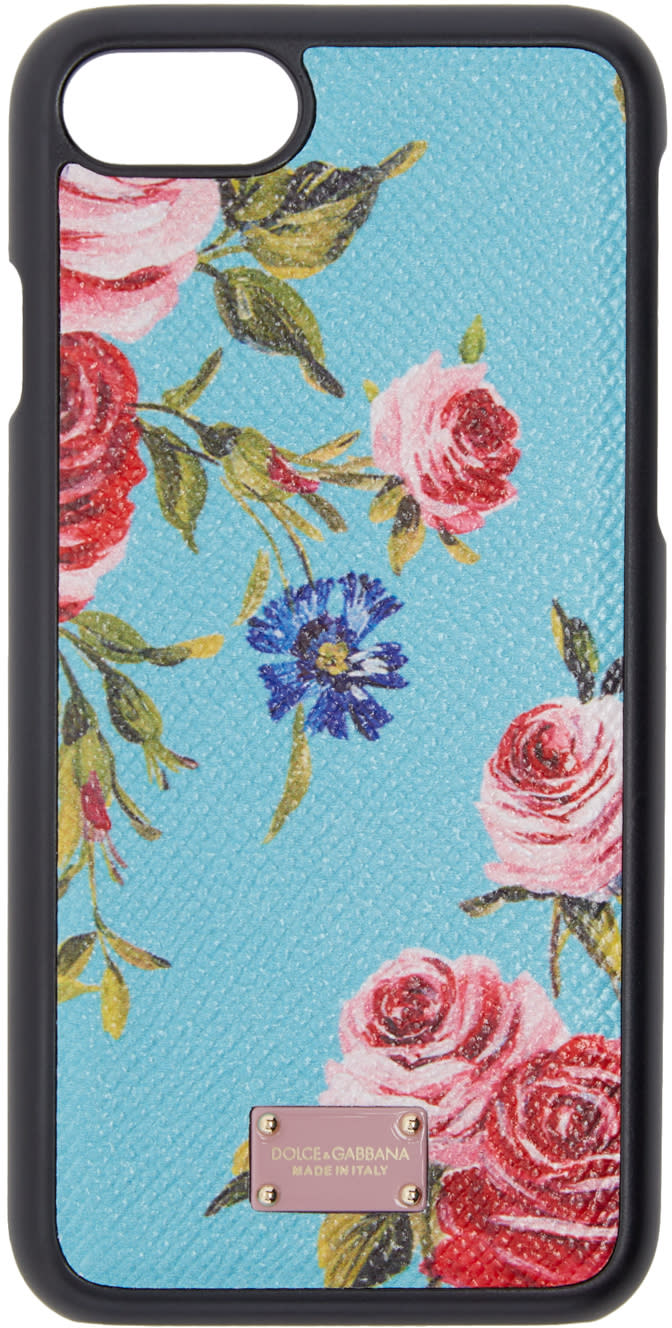 Dolce and Gabbana Blue Rose Iphone 7 Case