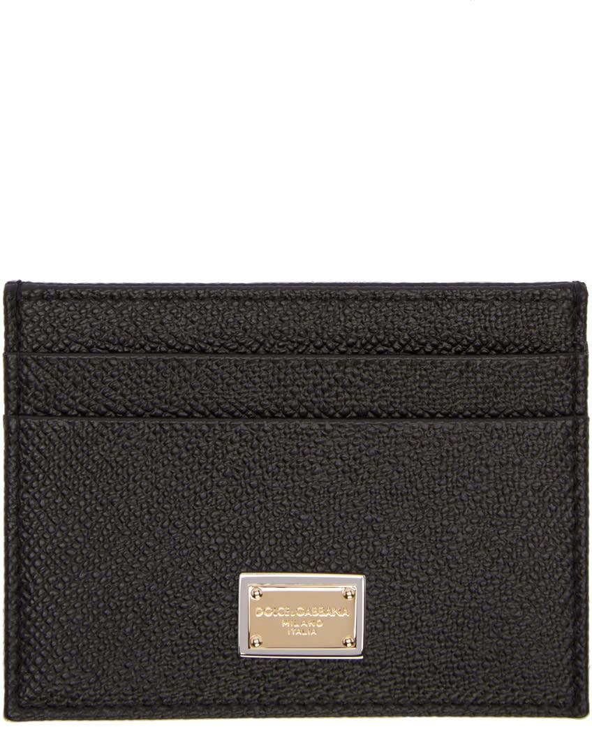 Dolce and Gabbana Black Logo Card Holder