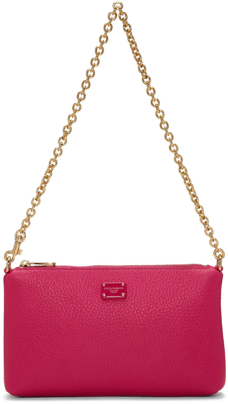 Dolce and Gabbana Pink Small Chain Pouch