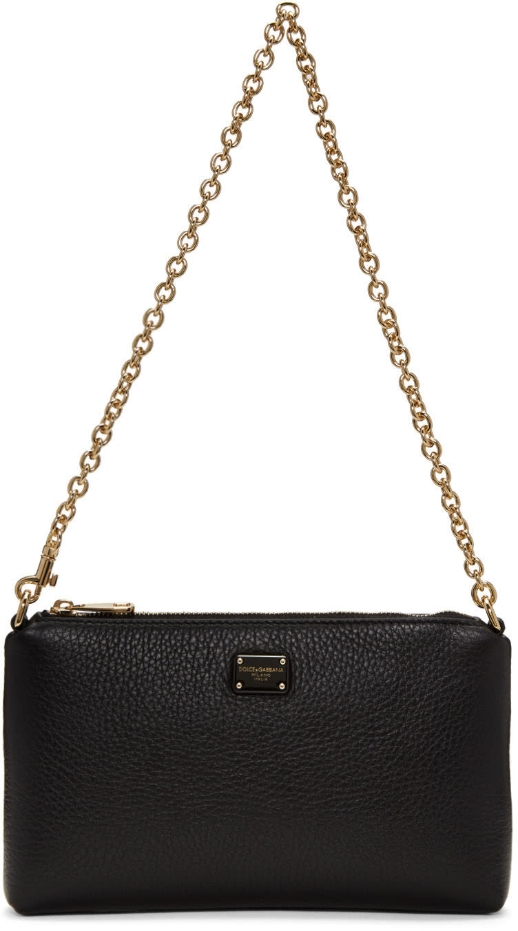 Dolce and Gabbana Black Small Chain Pouch