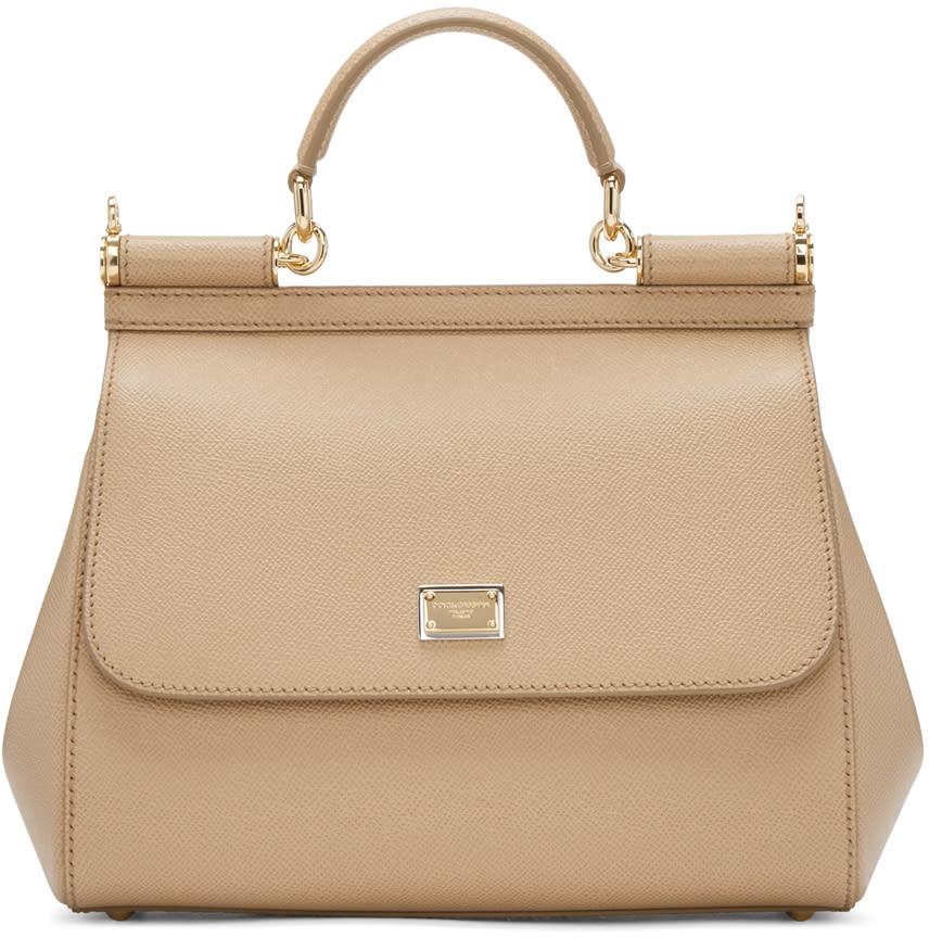 Dolce and Gabbana Tan Medium Miss Sicily Bag