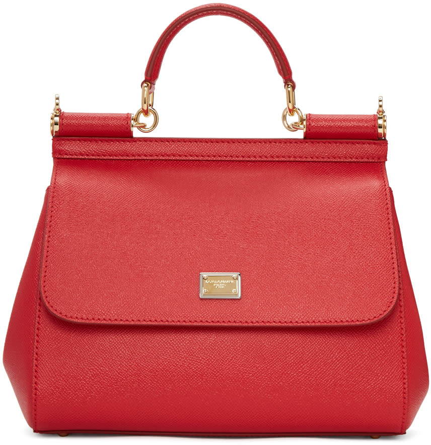 Dolce and Gabbana Red Medium Sicily Bag