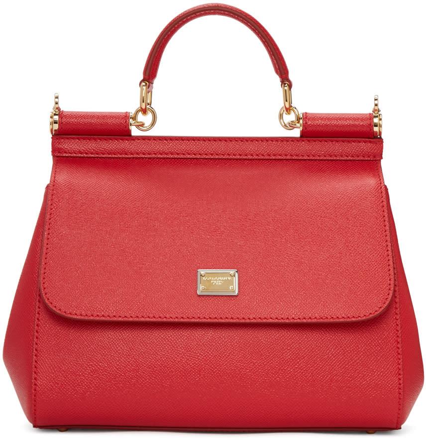 Dolce and Gabbana Red Medium Sicily Bag
