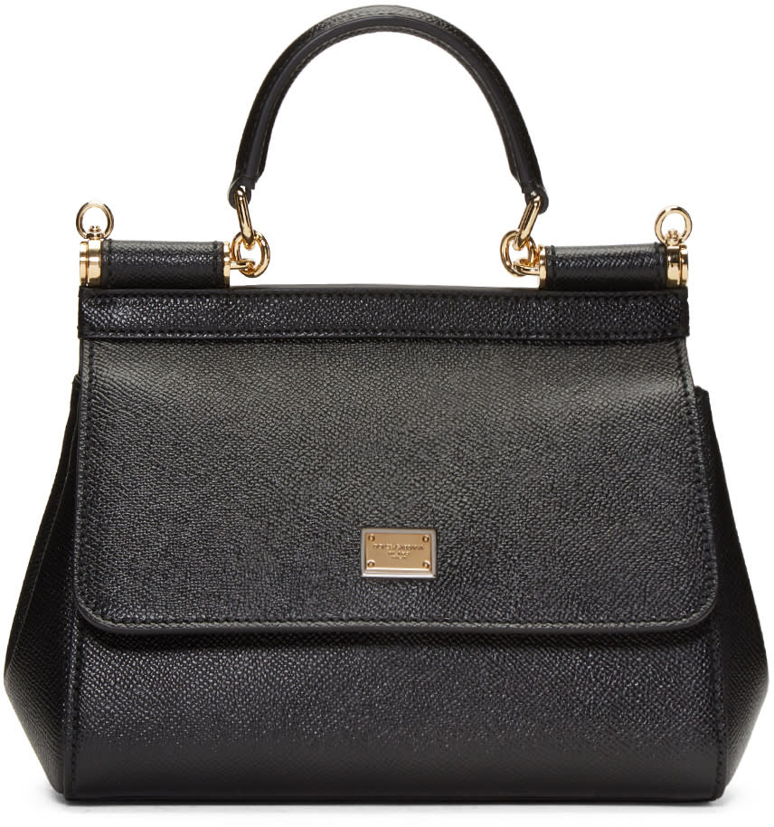 Dolce and Gabbana Black Small Miss Sicily Bag