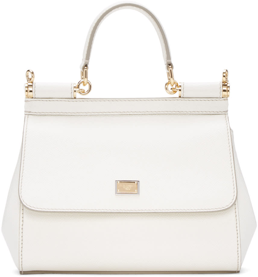 Dolce and Gabbana White Small Miss Sicily Bag
