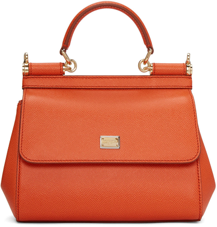 Dolce and Gabbana Orange Small Miss Sicily Bag