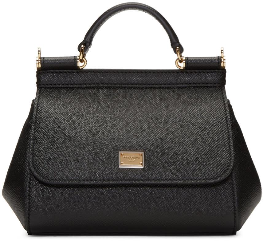 Dolce and Gabbana Black Mini Miss Sicily Bag