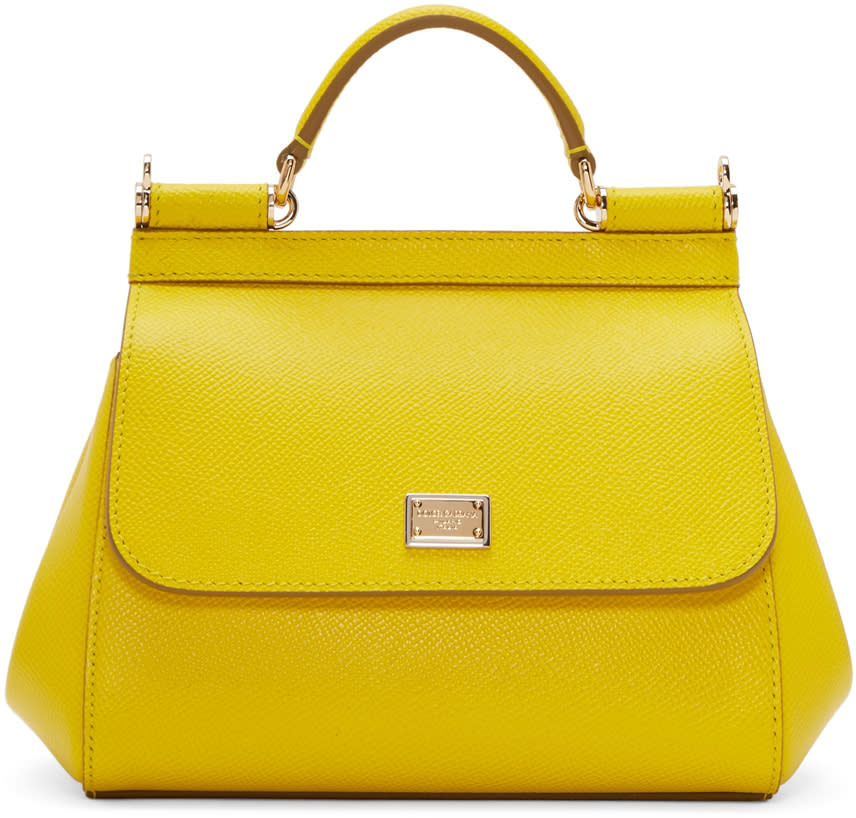 Dolce and Gabbana Yellow Mini Miss Sicily Bag