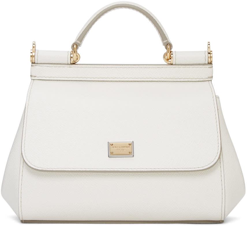 Dolce and Gabbana White Mini Miss Sicily Bag