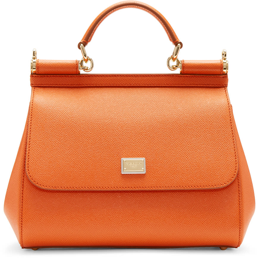 Dolce and Gabbana Orange Medium Miss Sicily Bag