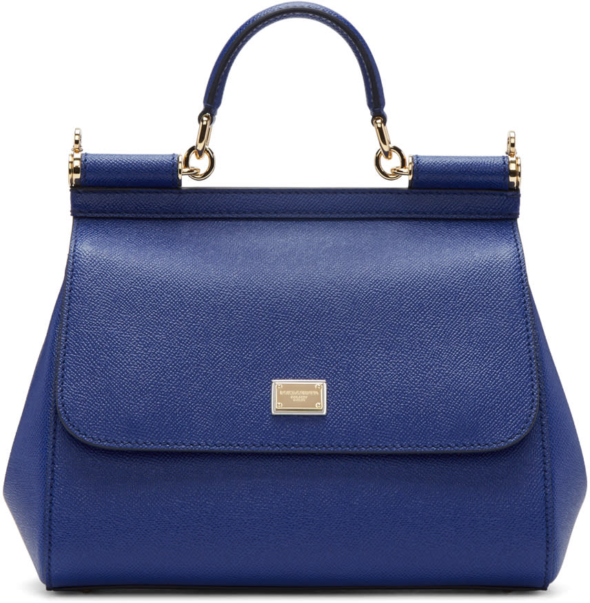 Dolce and Gabbana Blue Medium Miss Sicily Bag
