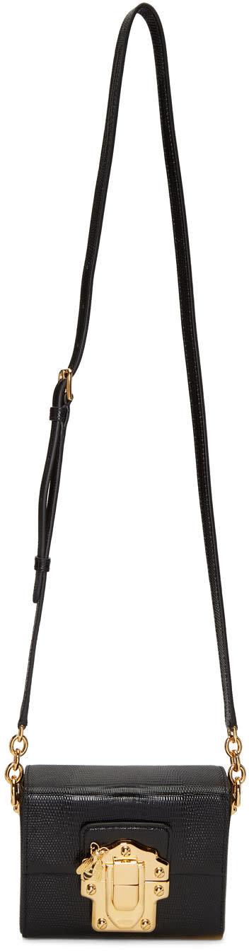 Dolce and Gabbana Black Lucia Lock Bag