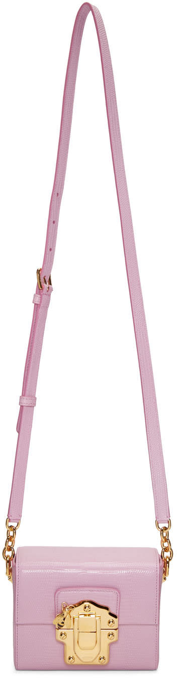 Dolce and Gabbana Pink Lucia Lock Bag